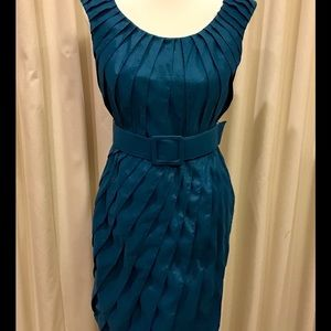 Stunning Adrianna Pappell Size 10 Dress Deep Teal