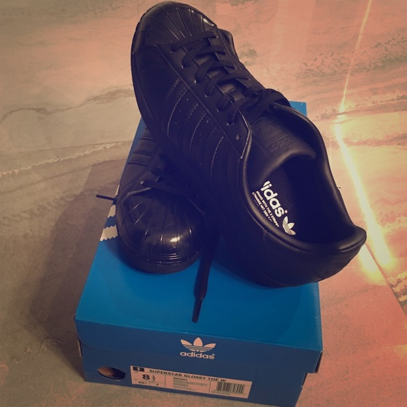 adidas youth stan smith de cuir noir et blanc formateurs 5