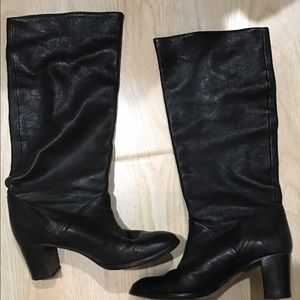 J.Crew Sutton tall leather midheel boots