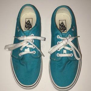 Vans Shoes - Turquoise Vans Sneakers Women's Size 9.5