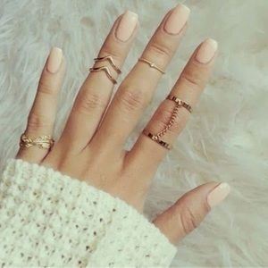 Jewelry - New Gold Chic 6 Piece Ring Set