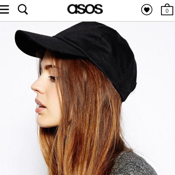 13315ca1a38 ASOS plain black baseball cap