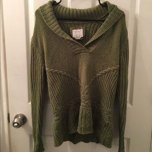 Olive Green Cowl Neck Sweater