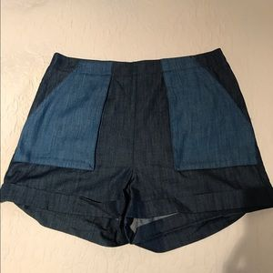 BCBGeneration Pants - Two tone jean shorts