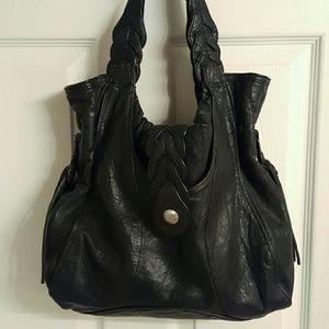Like New Junior Drake Black Leather Bag