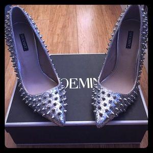 ShoeMint silver heels
