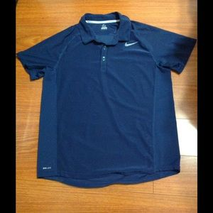 Nike Other - Nike navy blue tennis polo shirt. Size L