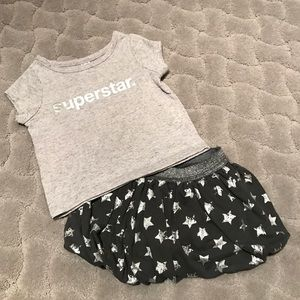 Amy Coe Other - ADORABLE Superstar Tee with Star Bubble Skirt