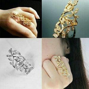 Elegant Women Bling Rings Full Gold/Silver