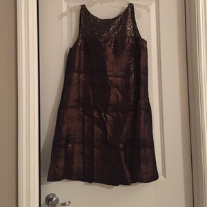 Bronze cocktail dress