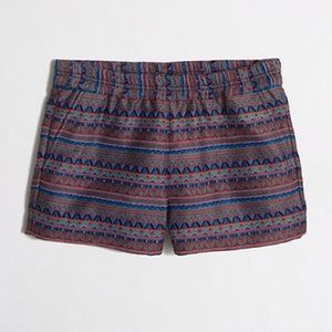 J. Crew Pants - J. Crew Jacquard Boardwalk Pull-on Tribal Shorts