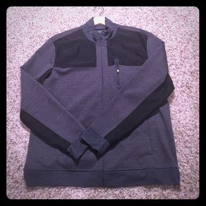 Men's Casual Jacket; Black and Grey