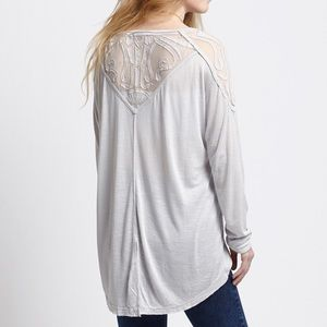 Free People Dove Gatsby Long Sleeve Top *NEW*