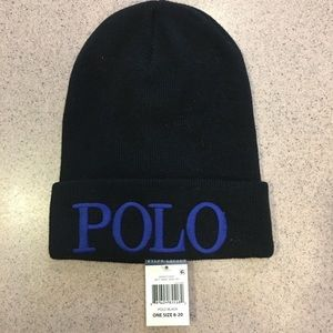Polo by Ralph Lauren Other - Polo Ralph boys Embroidered Wool-Blend Beanie Cap