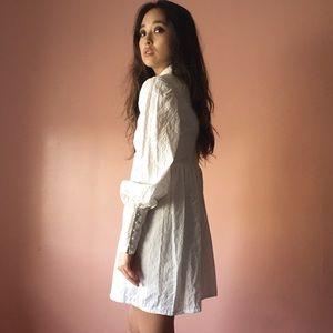 Vintage Eyelet Mini Dress