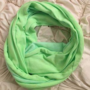 Neon green GAP infinity scarf