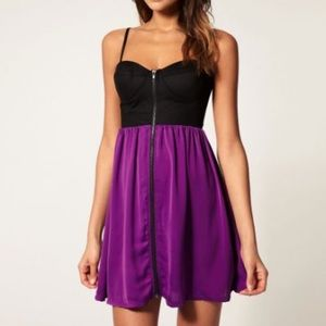Paprika Dresses & Skirts - Black and purple mini dress