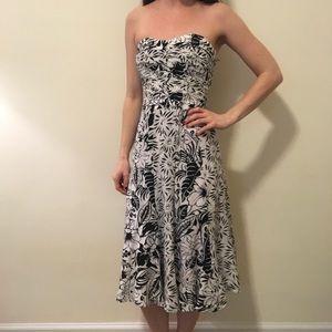 Nanette Lepore Dresses & Skirts - Nanette Lepore White Floral Silk Strapless Dress