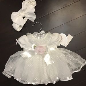 Koala Kids Other - Newborn infant white dress baptism