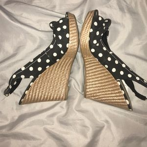 American Eagle by Payless Shoes - American Eagle Polka Dot Wedges