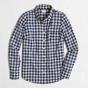 J. Crew Factory Tops - J. Crew Factory gingham perfect shirt