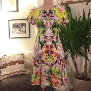 Prabal Gurung for Target Floral Dress Silk Trim
