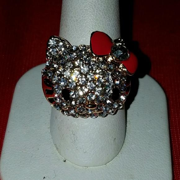 993fe257f Hello Kitty Jewelry | Crystal Ring | Poshmark