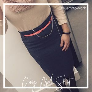 Dresses & Skirts - Perfect for Work Grey Midi Skirt