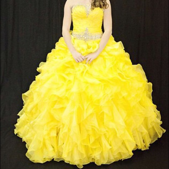 Gorgeous Yellow Ball Gown   Poshmark