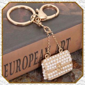 Glamorous Pearl Handbag Purse Charm