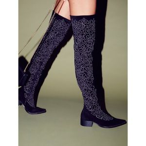 Jeffrey Campbell Shoes - lex over the knee boots, jeffrey campbell X FP