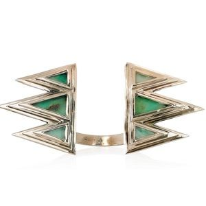 Pamela Love Jewelry - PAMELA LOVE Mountain bronze and crysoprase cuff