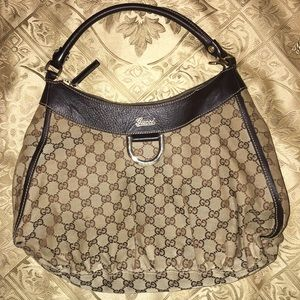 AUTHENTIC Gucci D Ring Large Hobo Bag