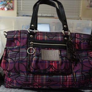 Coach Handbags - Coach Poppy Tartan tote