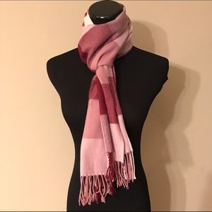 Accessories - NEW Shades of Pink Cashmere-Blend Fringe Scarf