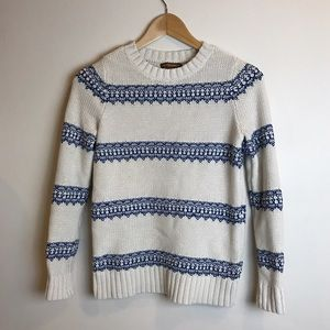 Hive & Honey Sweaters - White & blue sweater