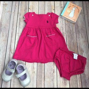 Ralph Lauren Other - Ralph Lauren pink dress and matching diaper cover