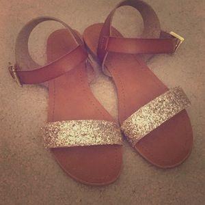 Gold glitter Mossimo sandals