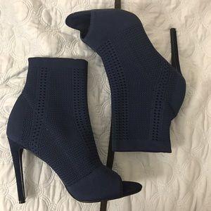 Fashion Nova Shoes - Knit peep-toe booties