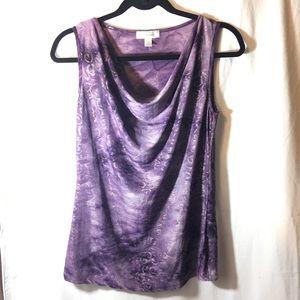 Dress Barn Tops - NWOT Purple and metallic gold top