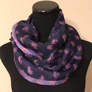 Accessories - NEW 100% Silk Purple Ombré Batik Scarf from India