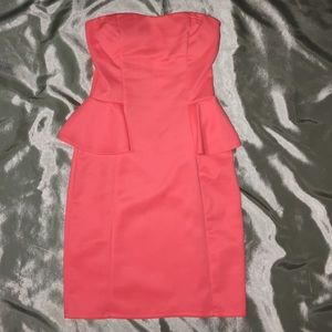 Charlotte russe Coral peplum dress in Size S