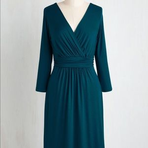 ModCloth - Gilli Teal Dress, Like New