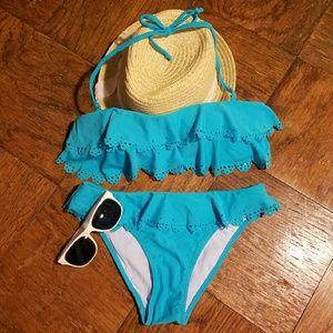 NWT turquoise bikini bathing suit