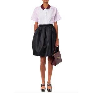 Carven Dresses & Skirts - CARVEN Black Satin Full Pleated Skirt