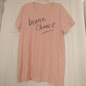 J. Crew bonne chance striped tee
