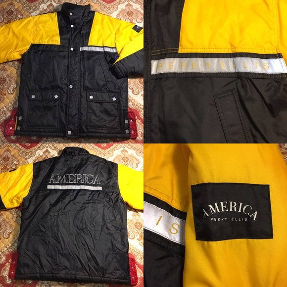 ec012a6fa1 Vintage Perry Ellis America Parka x Puffer Jacket.  M 5886d7402fd0b730f51759fa