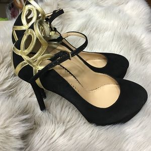 """Charlotte Olympia Shoes - Charlotte Olympia black ankle strap 6"""" inch heels"""
