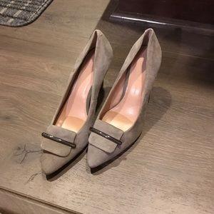 Banana Republic grey suede heels size 7