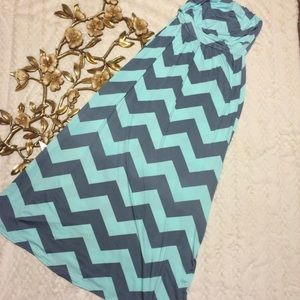 Dresses & Skirts - Chevron Pattern Maxi Dress NWOT